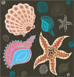 Sea paradise set2 vector