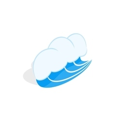 Blue sea wave icon isometric 3d style vector