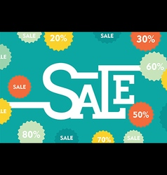 Creative big discounted sale banner design vector