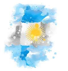 Map of argentina design vector