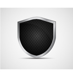 Icon black shield with metal elements vector