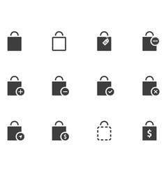 12 Bag Icons vector image vector image