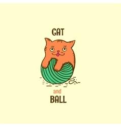 Logotype kitten vector image