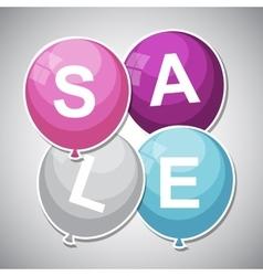 Sale Balloon Concept of Discount vector image