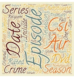 Csi season 2 dvd review text background wordcloud vector