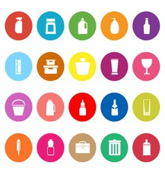 Design package flat icons on white background vector