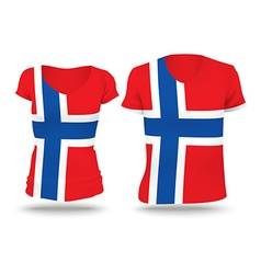 Flag shirt design of jan mayen vector