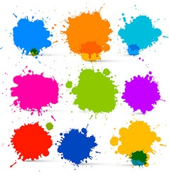 Colorful isolated blots - splashes set vector