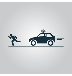 Robber and police car vector