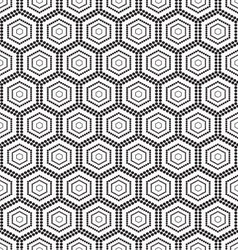 Seamless monochrome pattern hex vector