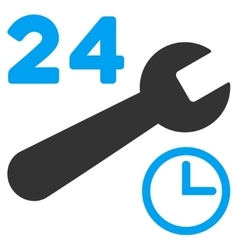 Service hours icon vector