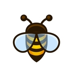 Bee Logo Sign Icon vector image