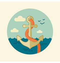 Anchor icon marine sea vector
