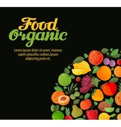 Organic food fruits and vegetables vector