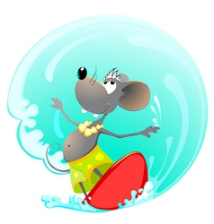 Mouse summer sport vector