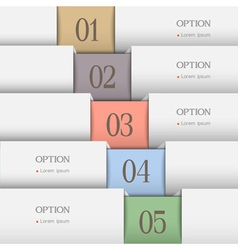 Horizontal numbered banners vector