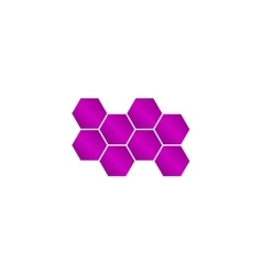 Honeycomb sign icon honey cells symbol vector