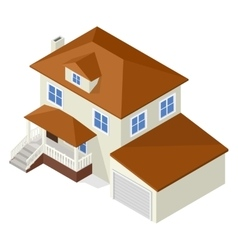 Architecture isometric cottage vector