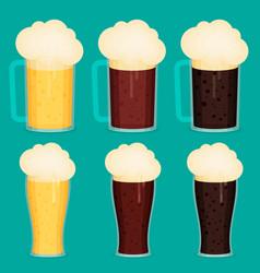Beer cup flat vector