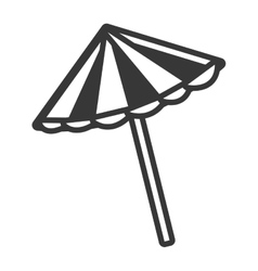 Black and white beach umbrella graphic vector