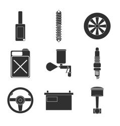 Car service flat icon set vector image