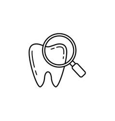 checking teeth line icon vector image