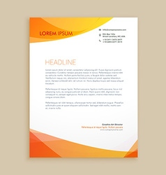 Creative business letterhead design vector