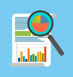 Data analysis concept Flat design Isolated on vector image