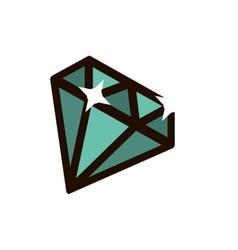 Diamond gem icon vector