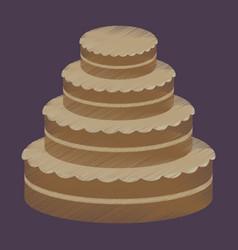 Flat shading style icon wedding cake vector