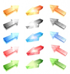 glass arrows vector image vector image