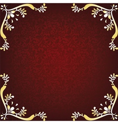gold floral frame vector image vector image