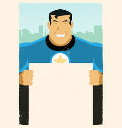 Grunge super hero sign vector