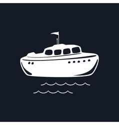 Lifeboat isolated on black background vector