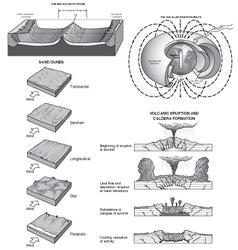 Misc geology art two vector