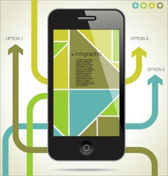 Modern Infographic with a smartphone vector image vector image