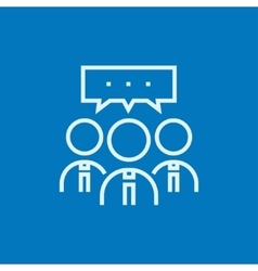 People with speech square above their heads line vector image vector image