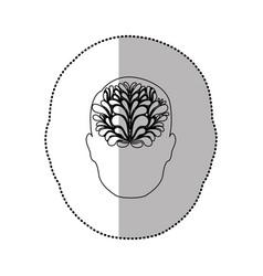 person with brain idea icon vector image