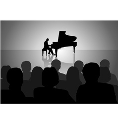 Piano recital vector
