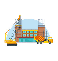 process of building school premises vector image