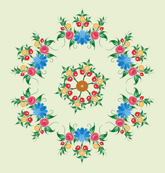 Russian national circular ornament for use on vector