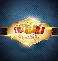 shiny christmas background vector image vector image