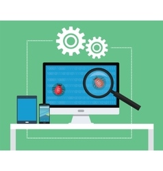 software testing vector image