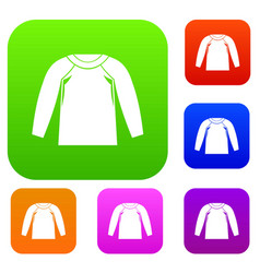sports jacket set collection vector image vector image