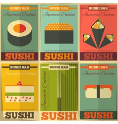 sushi posters vector image vector image