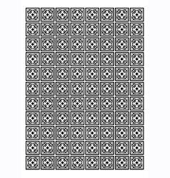 Tile block pattern vector image vector image