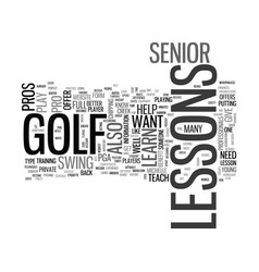What senior golf pros still give lessons text vector