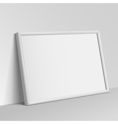 White horizontal frame for paintings vector image