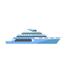 Yacht or ship cruise liner or speedboat vector