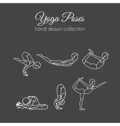 yoga poses collection Asana vector image